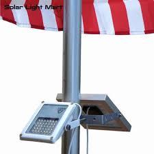 Solar Spot Lights For Flag Pole Mini Alpha 180x 35 Led 5m Cable Automatic Waterproof Solar Led Flag Pole Flood Light 3 Power Modes For Outdoor