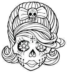 Day Of The Dead Coloring Pictures Day Of The Dead Coloring Pages