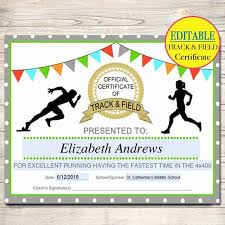 Free Softball Certificates To Print Inspirational Track And