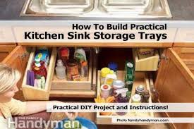Under Kitchen Sink Storage Kitchen Sink Storage Best Kitchen Ideas 2017