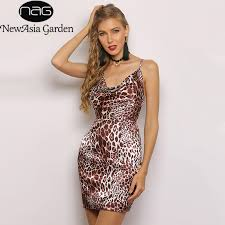 NewAsia 2 Layers <b>Leopard Printed Sexy</b> Dress Women 2019 ...
