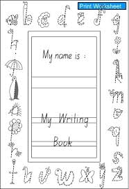 handwriting book cover english skills interactive activity lessons