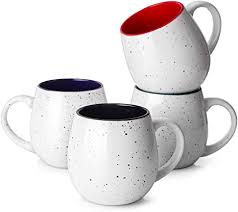 Sold and shipped by blue rose pottery. Amazon Com Lifver 20 Ounces Coffee Mugs Large Porcelain Mug Sets For Coffee Tea Cocoa Housewarming Gift Set Of 4 Multi Colors Kitchen Dining