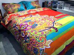 bright colored comforter sets colorful queen size multi cream