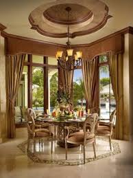 gl round table in terranean dining room