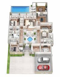 3d Floor Plan 4 Bedroom Luxury Apartment Floor D Plan Images About  Rhhomedesignwarecom Understanding Plans And
