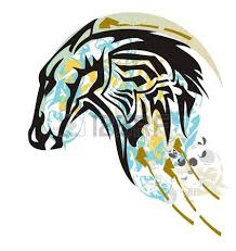 horse head clip art color. Perfect Color Light Blue Color Ethnic Horse Head Splashes Grunge Tribal Ornamental Black  With Intended Horse Head Clip Art Color C