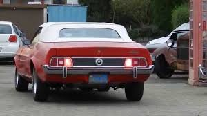 1972 Ford Mustang Cabrio 351 CUI Cleveland V8 - YouTube