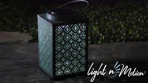 Light N Motion Solar Light N Motion Square Metal Lantern Verdigris 2sp5607