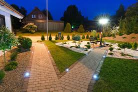 Outdoor Lighting Without Electricity Exterior Lighting Planning Installation St Charles