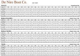Deniro Boot Size Chart Deniro Erika Riding Boots