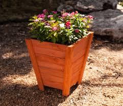 tall wooden planter 15 x 17 5 x 9 5