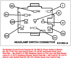 94 95 mustang headlight switch connector diagram 1994 Mustang Headlight Wiring Diagram 1994 Mustang Headlight Wiring Diagram #4 1994 mustang headlight switch wiring diagram