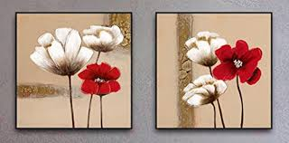 >wall art beautiful images about red flower canvas wall art red  oil painting two piece framed abstract artwork marvelous white and red flower canvas wall art pinterest