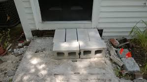 Cinder Block Stairs Front Steps Part 1 Demolition Orbited By Nine Dark Moons