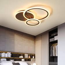 2019 White/<b>Brown Modern Led Chandelier</b> Lighting For Bedroom ...