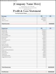 daily profit and loss daily profit and loss template