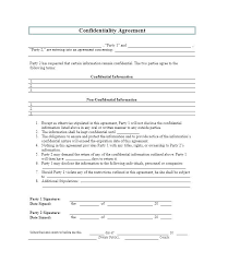 Unilateral Non Disclosure Agreement Template 8 And Confidentiality