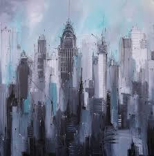 saatchi art artist irina rumyantseva painting manhattan new york cityscape art