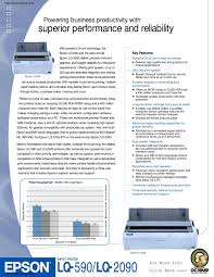 Faq's browse our frequently asked questions for your product. Calameo Epson Lq 2090 Wide Format Dot Matrix Printer Brochure