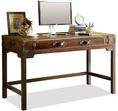 front door tableRiverside Furniture Latitudes Suitcase Writing Desk with Drop with