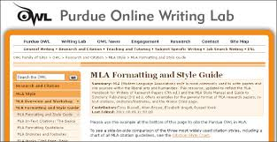 mla citation guide central catholic high school library  purdue university online writing lab owl