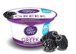 Dannon Light And Fit Weight Watchers Points Blackberry Greek Yogurt Light Fit