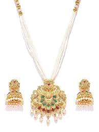 zaveri pearls gold tone traditional moti mala necklace set zpfk7038 zaveri pearls gold tone traditional moti mala necklace set zpfk7038 at best