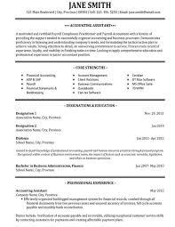 Resume Templates For Accountants Commily Com