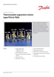 Danfoss Orifice Sizing Chart Kw Thermostatic Expansion Valves Type Te5 To Te55 Gafco