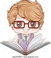kid boy book student