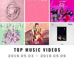 Top Charts Music Videos Youtube Top Music Videos On Youtube Korea 19th Week 2019
