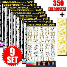 Buy 9 Pack Exercise Banner Poster Total Body Workout Fitness