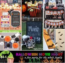 Halloween Movie Night Decorations
