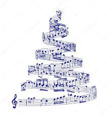 Výsledek obrázku pro vánoční stromeček a noty