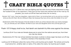Bible Quotes About Children Fascinating Crazy Bible Quotes Atheism