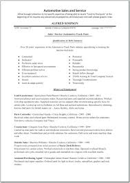 auto sales resume samples resume auto parts sales resume