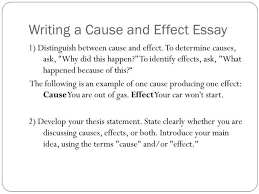 List Of Ideas For Cause And Effect Essays Mistyhamel