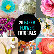 Paper Flower Bouquet Tutorial How To Make Gorgeous Paper Flowers 20 Diy Flower Tutorials