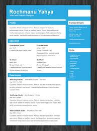 11 Psd One Page Resume Templates -Designbump