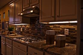 image of led strip under cabinet lighting ideas