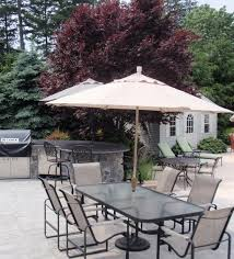 magnificent patio table and chairs with umbrella photos ideas umbrella for patio table costco rectangular umbrella