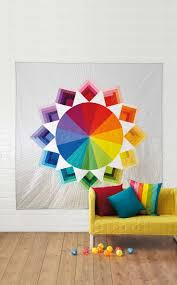 Colour Wheel quilt by Holly DeGroot for Love Patchwork & Quilting ... & Colour Wheel quilt by Holly DeGroot for Love Patchwork & Quilting magazine  issue 12 Adamdwight.com