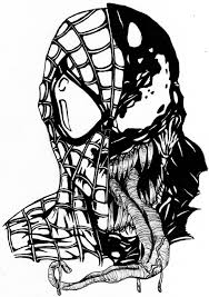 Small Picture Spiderman Vs Venom Coloring Pages FunyColoring