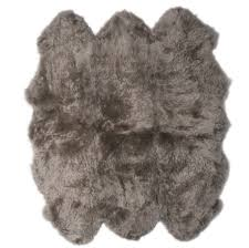 fibre by auskin longwool decto pelt natural shaped rug