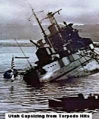「U.S.S. Utah that was sunk at Pearl Harbor」の画像検索結果
