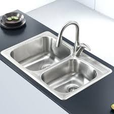 drop in stainless steel kitchen sinks stainless steel x double basin drop in kitchen sink stainless