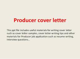 Sample Film Cover Letter Producer Cover Letter