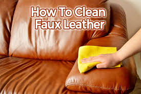 how do you clean faux leather