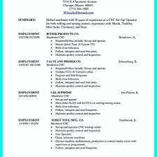 Cnc Machinist Resume Templates Examples Resumes Manuals Outside